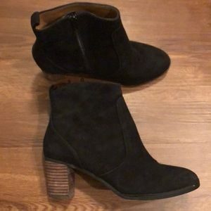 Black Suede J.Crew Factory Ankle Boots
